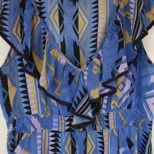 Yumi Kim Silk Print Dress Pockets Size Large
